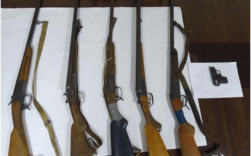 Şəmkir sakinlərindən silah aşkarlandı
