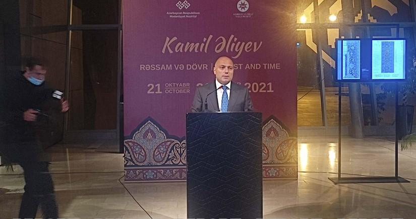 Xalq rəssamı Kamil Əliyevin 100 illik yubileyinə həsr olunmuş sərgi açılıb