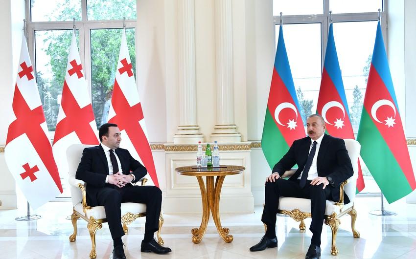 """Gürcüstanın Baş naziri: """"Azərbaycan prezidenti ilə əla görüş keçirdim"""""""