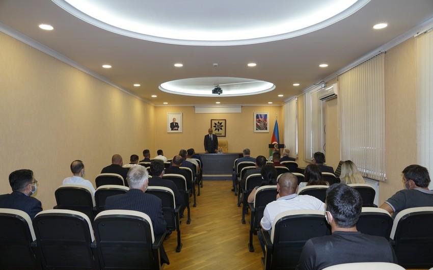 ANAMA sədri Agentliyin müharibə iştirakçısı olan əməkdaşları ilə görüşüb