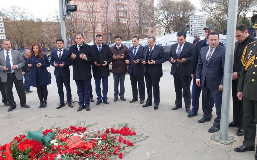 Ankaranın Xocalı Soyqırımı meydanında anım tədbiri keçirilib