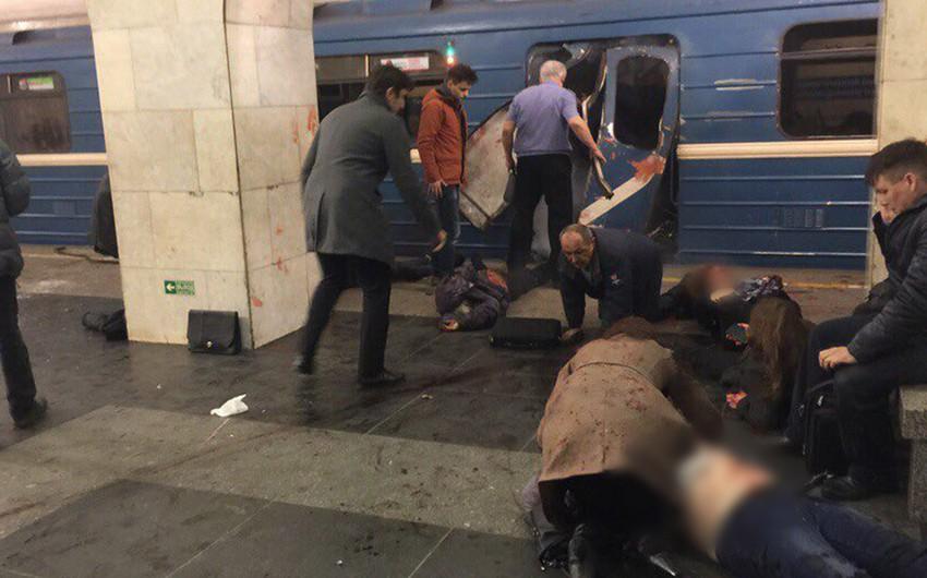 Sankt-Peterburqda metronun iki stansiyasında partlayış olub, 10 nəfər ölüb - YENİLƏNİB-2