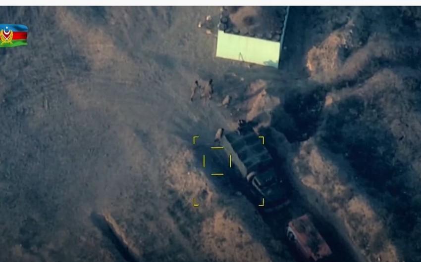 Ermənistan silahlı qüvvələrinin xeyli sayda canlı qüvvəsi məhv edilib - VİDEO