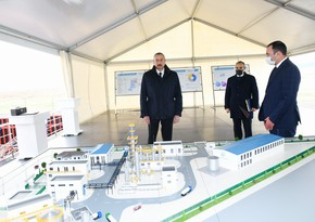 Ilham Aliyev attends groundbreaking ceremony for two plants in Sumgayit
