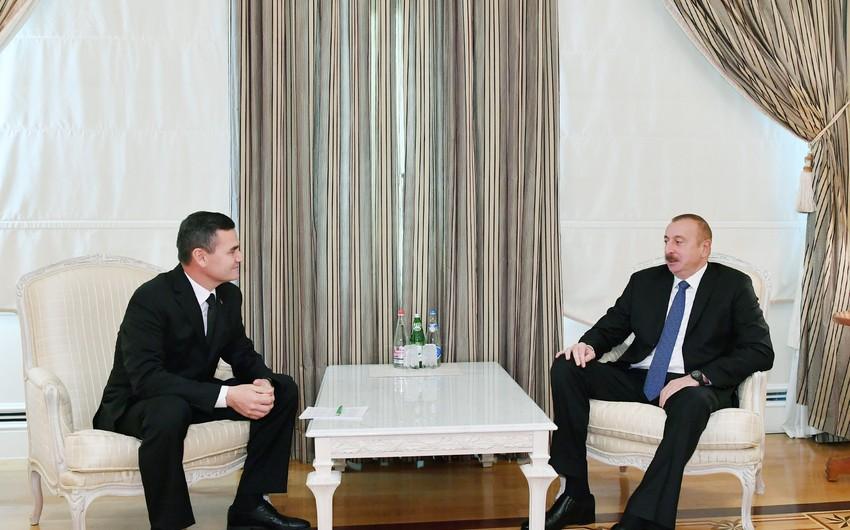 Президент Ильхам Алиев принял зампредседателя Кабинета министров Туркменистана
