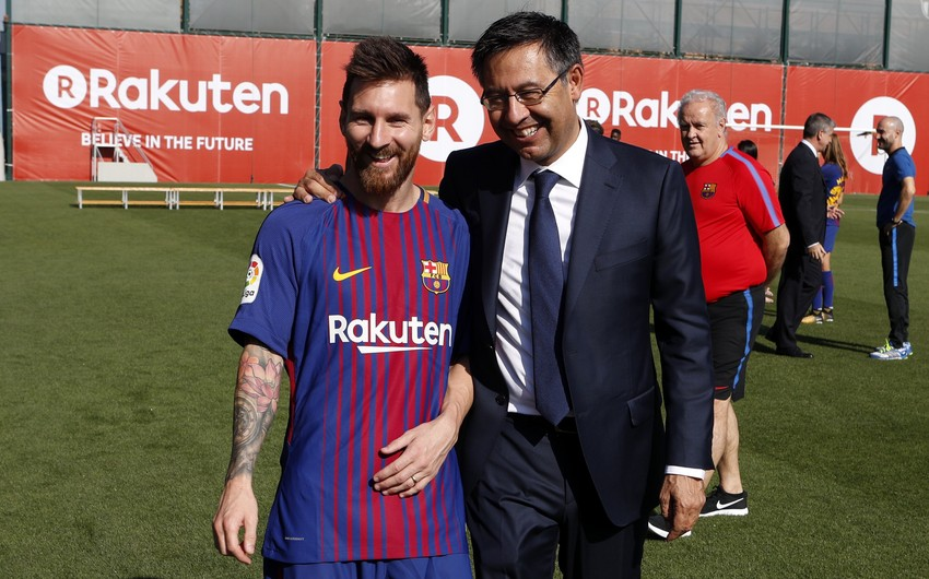 Barselonanın prezidenti Messi barədə xəbərlərə aydınlıq gətirdi