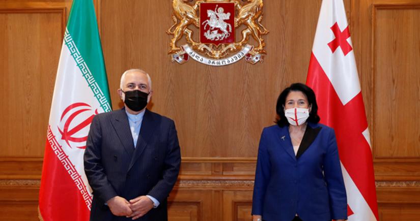 Salome Zurabişvili İran XİN başçısı ilə bölgənin iqtisadi potensialını müzakirə edib