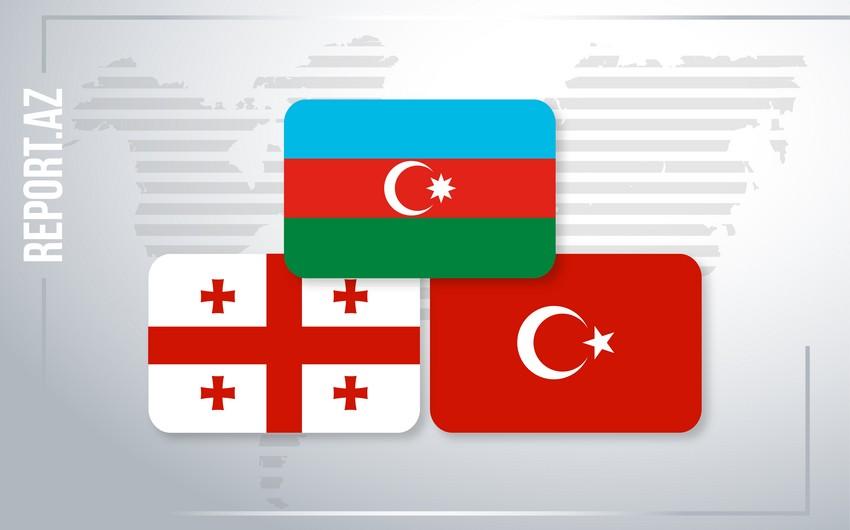 Bakıda Azərbaycan, Gürcüstan və Türkiyə XİN başçılarının  -