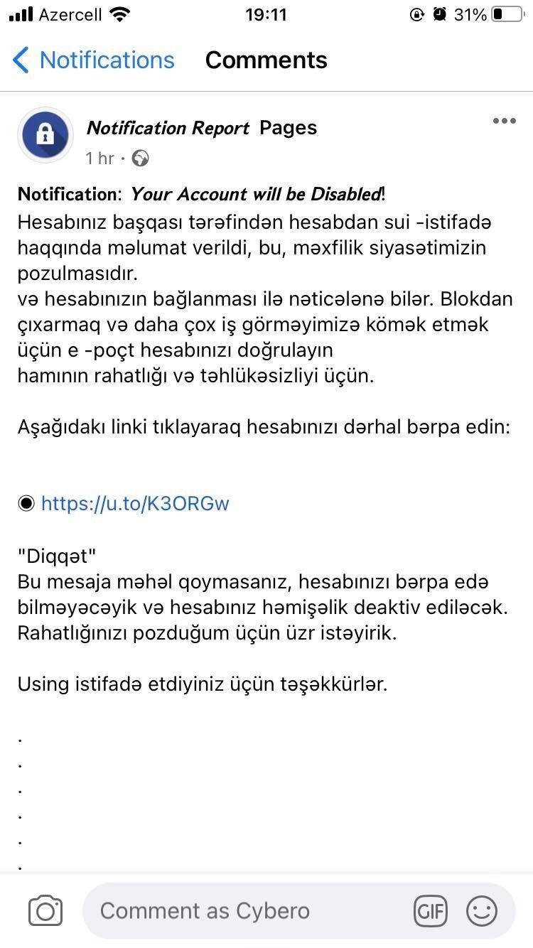 Dövlət Xidmətindən sosial şəbəkə istifadəçilərinə XƏBƏRDARLIQ