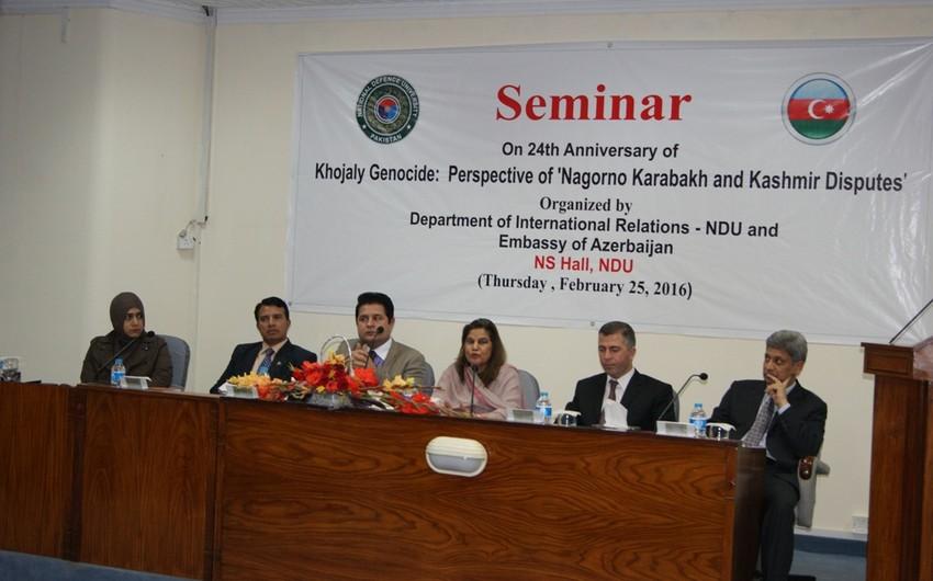 İslamabadda Xocalı soyqırımı ilə bağlı seminar keçirilib