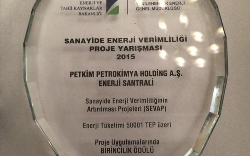 Petkim Holding enerji məhsuldarlıq müsabiqəsində qalib olub