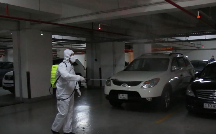 BNA yeraltı qarajlarda dezinfeksiya aparıb