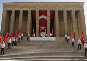 Turkish people celebrate Commemoration of Atatürk, Youth and Sports Day