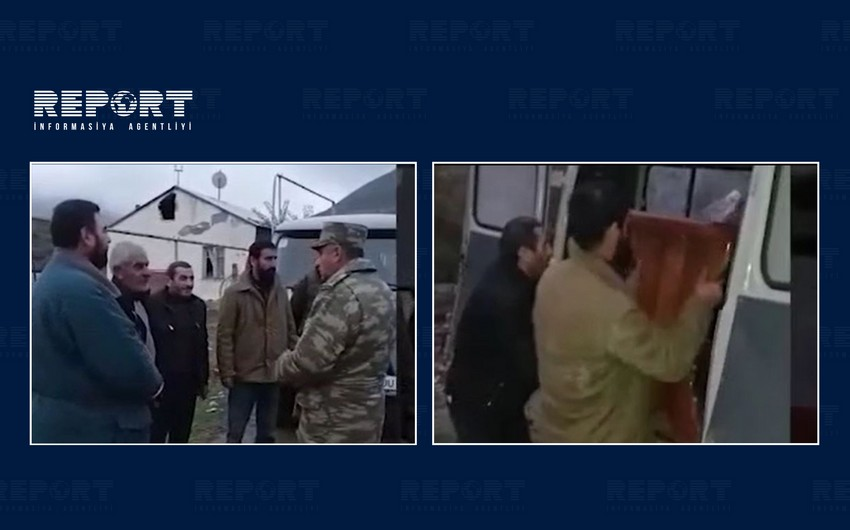 Azerbaijani soldiers create conditions for Armenians to take belongings