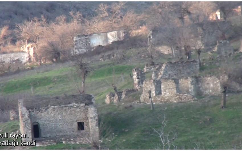 Video footage from liberated Garadaghli village of Fuzuli