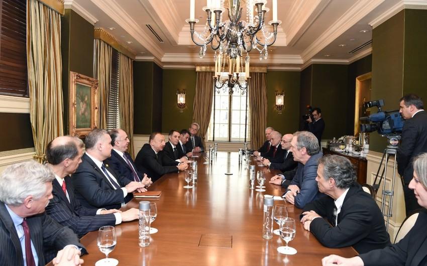 Azərbaycan prezidenti ABŞ-dakı yəhudi təşkilatlarının rəhbərliyi ilə görüşüb