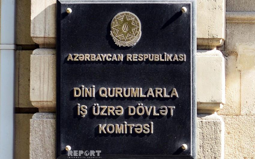Dövlət Komitəsi Azərbaycan üzrə vahid namaz təqviminin tətbiqinə münasibət bildirib