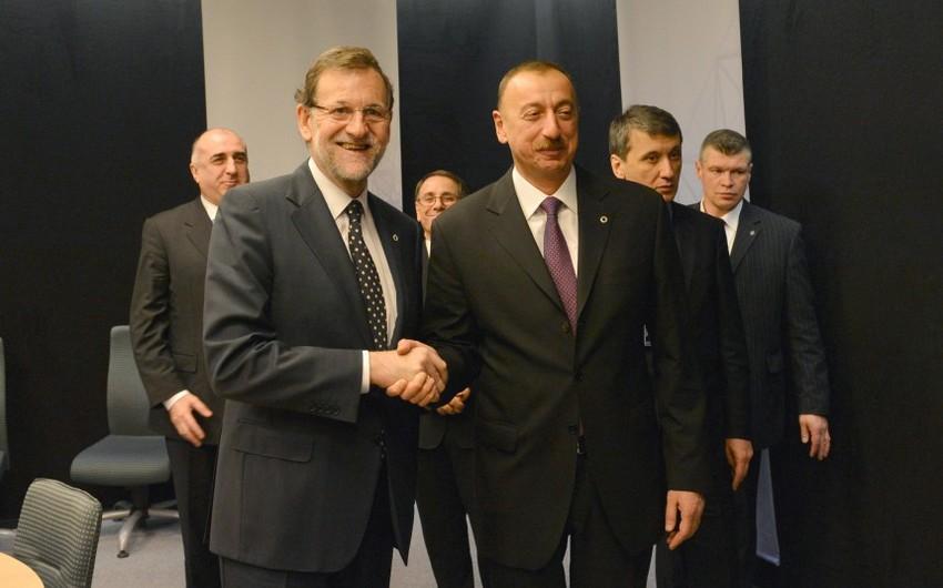 İspaniyanın Baş naziri Azərbaycan Prezidentinə təbrik məktubu ünvanlayıb