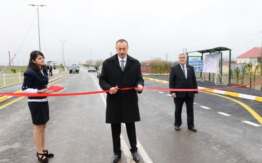 Azərbaycan Prezidenti Sabirabad rayonunda bir sıra obyektlərin açılışında iştirak edib - YENİLƏNİB