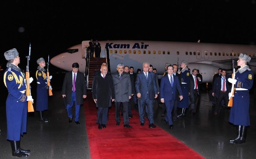 Əfqanıstan prezidenti Azərbaycana gəlib