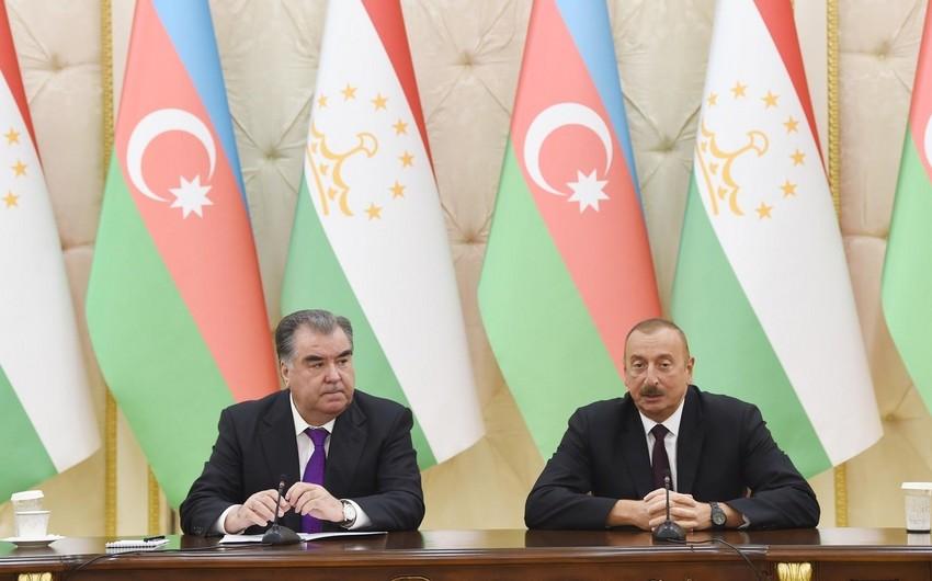 Azerbaijani, Tajik Presidents hold telephone conversation