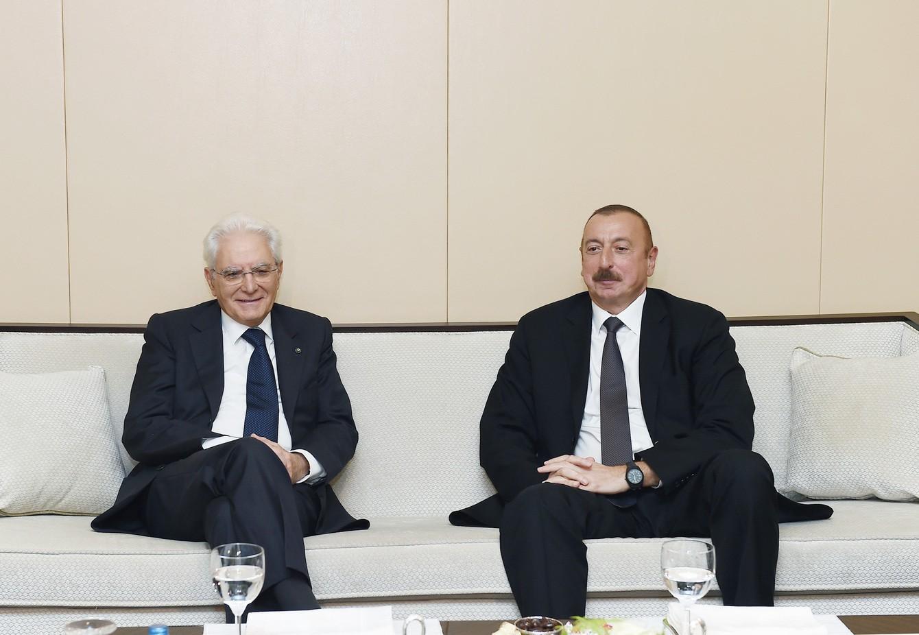Президент Италии поздравил Ильхама Алиева