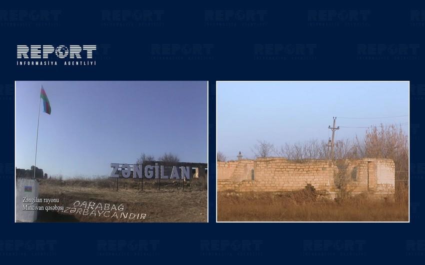 Footage of Minjivan settlement of Zangilan