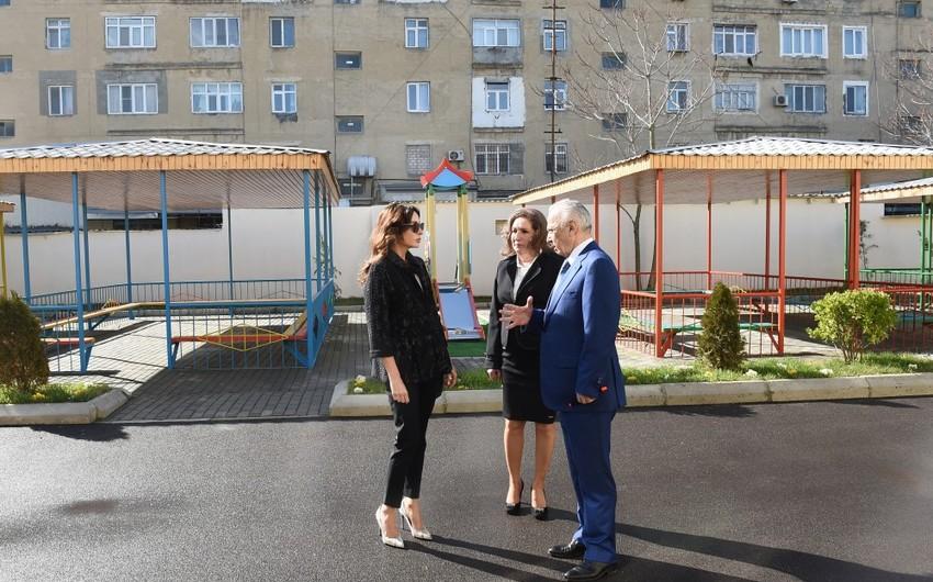 """Mərdəkandakı """"İnci"""" körpələr evi-uşaq bağçasının binasının əsaslı təmirdən sonra açılışı olub"""