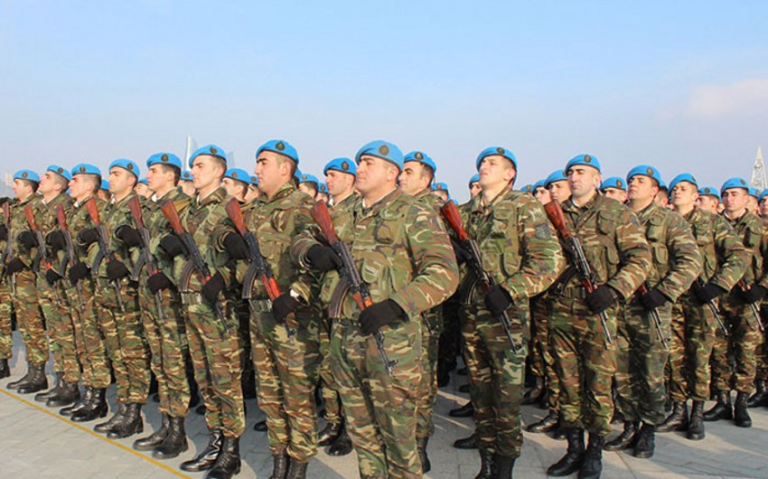Representatives of Azerbaijani Armed Forces taking part in international events