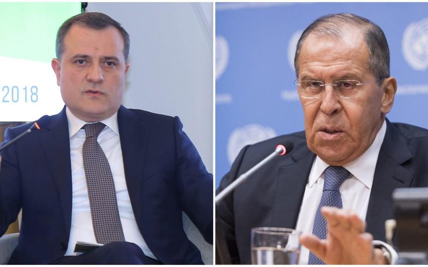 Jeyhun Bayramov, Sergey Lavrov have phone conversation