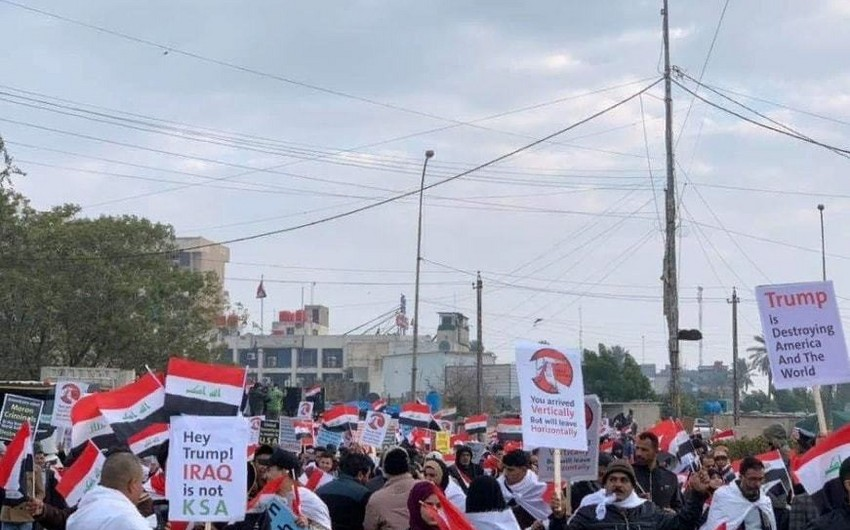 В Багдаде проходит массовая демонстрация против присутствия войск США в стране