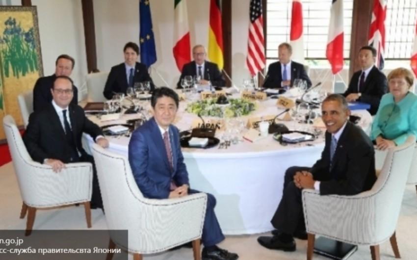 G7 liderləri Rusiyanı sanksiyaları gücləndirəcəklərini bəyan ediblər