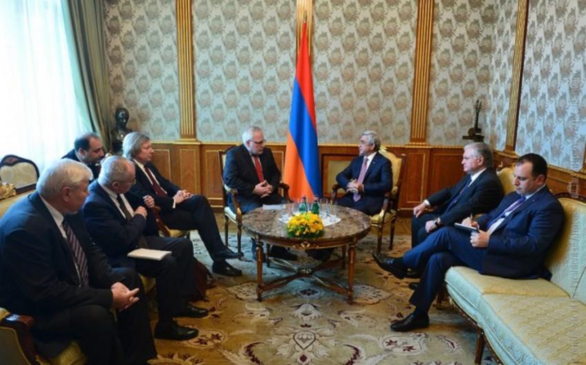 Minsk qrupunun həmsədrləri Ermənistan prezidenti ilə görüşüblər