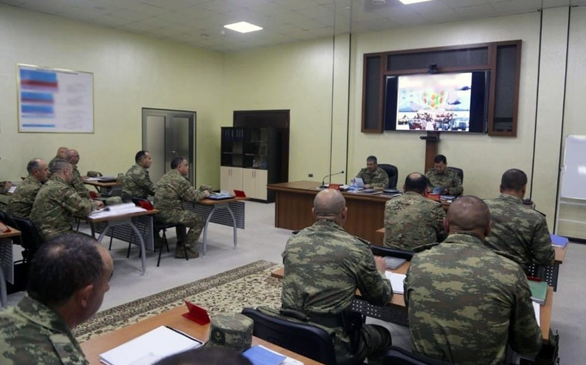Azerbaijan Defense Minister has been reported on the progress of exercises - VIDEO