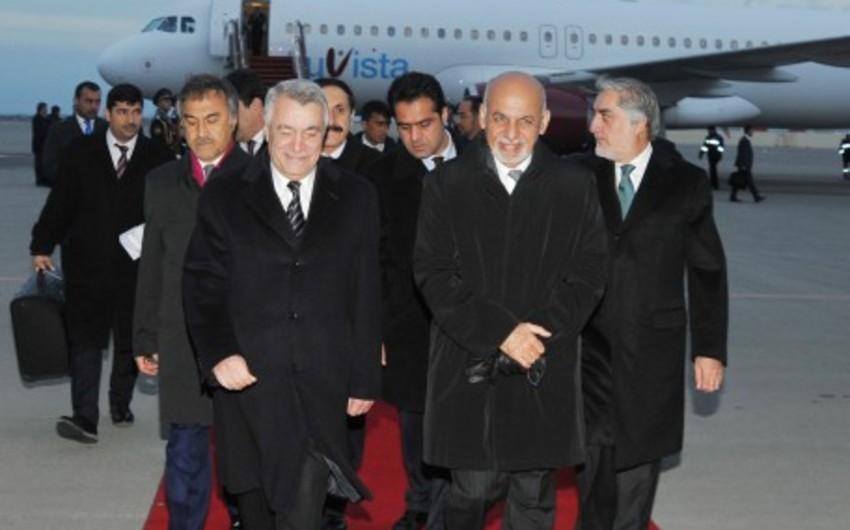 Əfqanıstan Prezidentinin Azərbaycana işgüzar səfəri başa çatıb