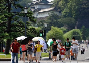 Japan sees record-high temperature