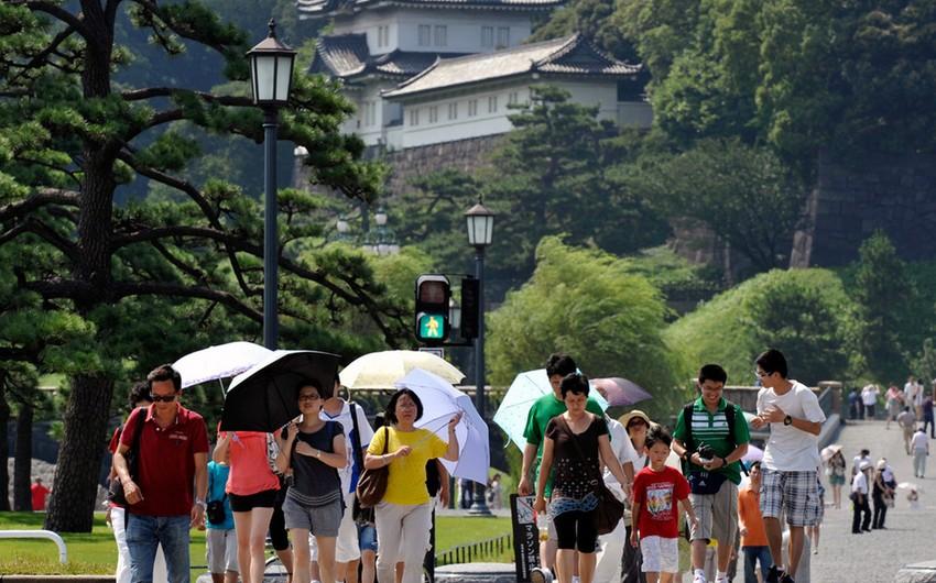 В Японии зафиксирована высокая температура
