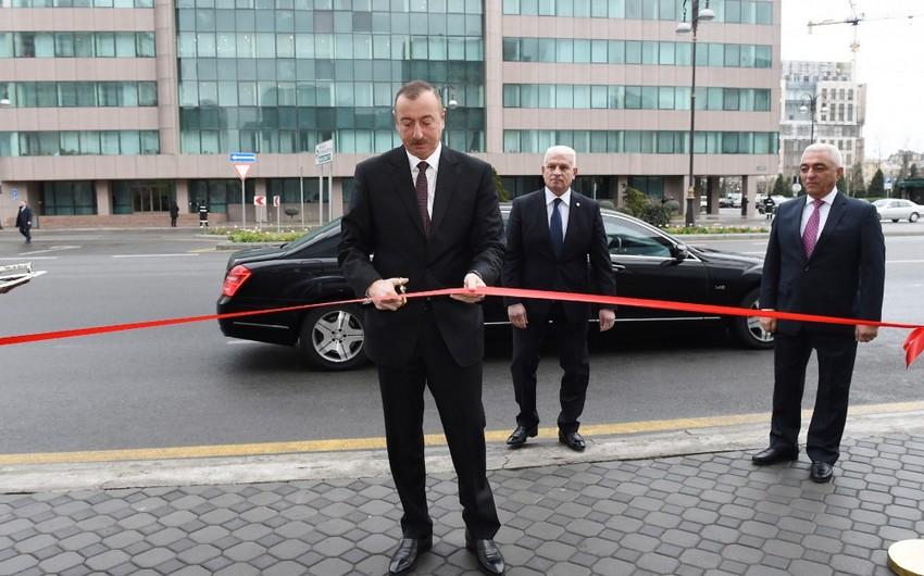 Президент Ильхам Алиев принял участие в открытии административного здания Бакинской распределительной сети и подстанций