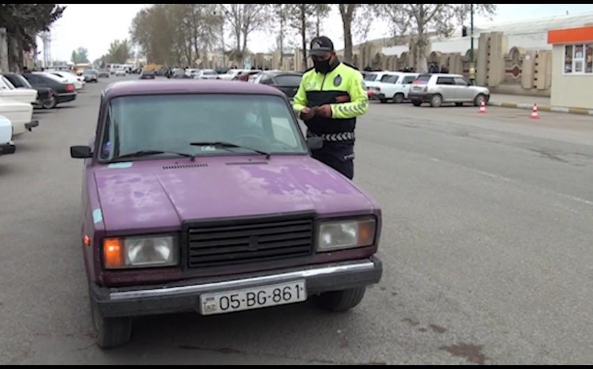 Yol polisi Qərb rayonlarında reyd keçirdi - FOTO
