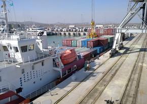 Qazaxıstana məxsus konteyner gəmisi Bakı Limanındadır
