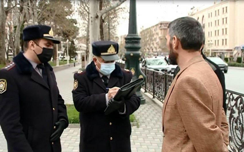 Gəncədə karantin rejimini pozan şəxslərə protokol tərtib edildi