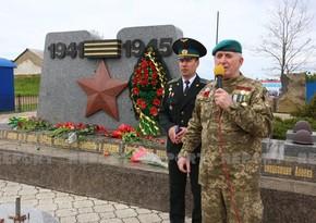 Ukraynada Azərbaycan diviziyası döyüşçülərinin xatirəsi anılıb
