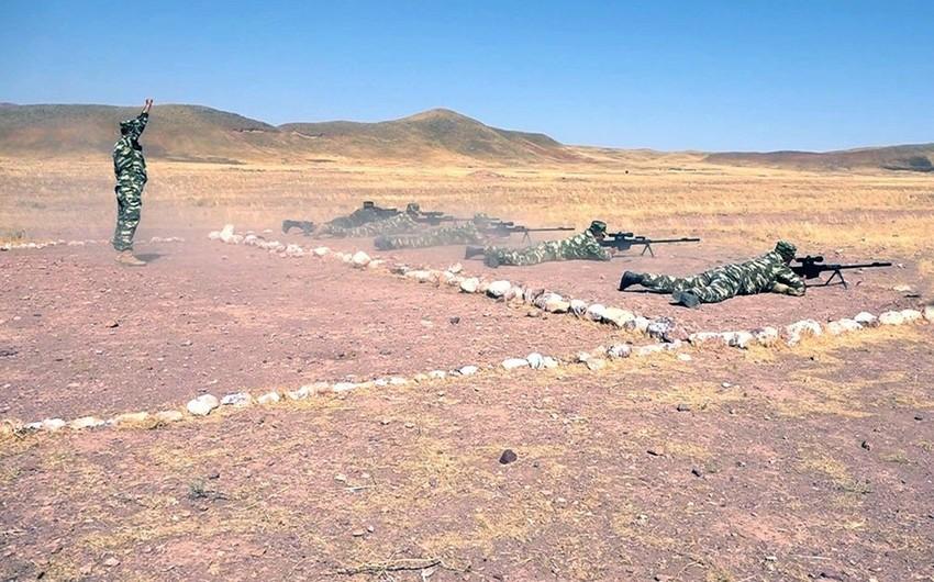 Naxçıvan Qarnizonu Qoşunlarında snayperlərin toplantısı keçirilib - VİDEO