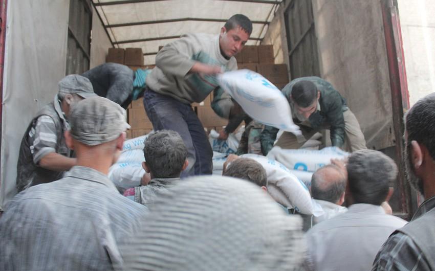 BMT: May ayında humanitar yardım Suriyanın mühasirəyə alınan 18 rayonundan yalnız ikisinə çatdırılıb