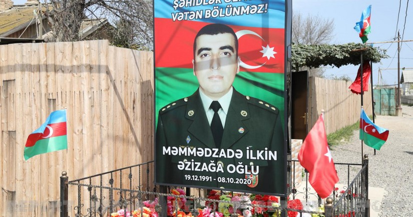 Vətən müharibəsi şəhidi baş leytenant İlkin Məmmədzadənin xatirəsi anılıb