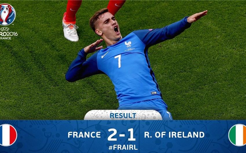 ЕВРО-2016: Футболисты сборной Франции победили команду Ирландии в 1/8 финала - ВИДЕО