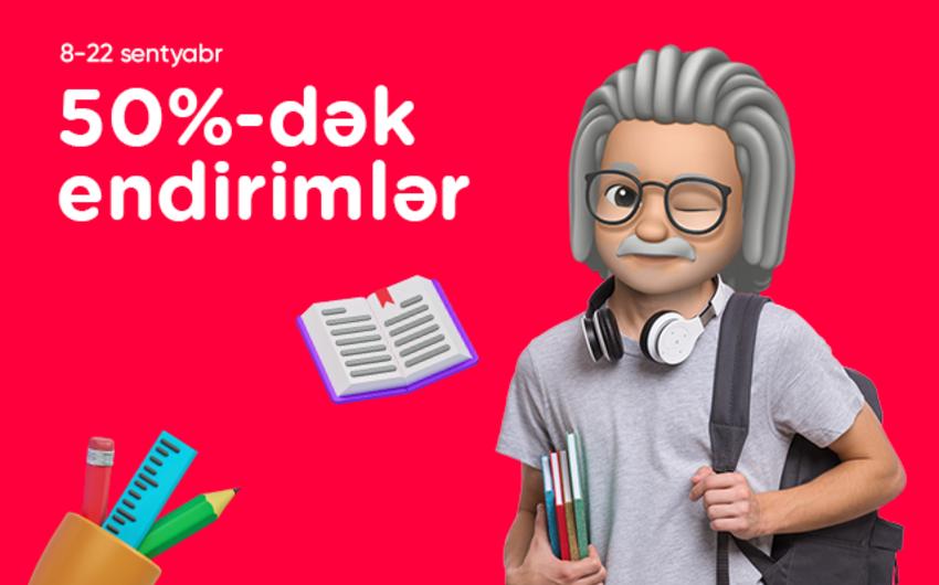 """""""Kontakt"""" """"Dərsə ağıllı başla"""" kampaniyasına start verdi – 50%-DƏK ENDİRİM"""