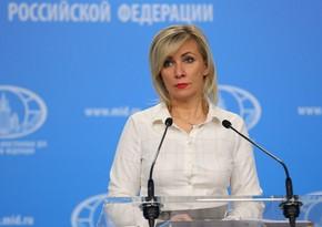Zaxarova: Qarabağla bağlı üçtərəfli sazişlərə əməl olunmasını düzgün hesab edirik