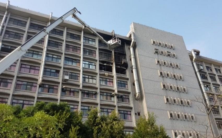 Tayvanda xəstəxanada baş verən yanğında 9 nəfər ölüb