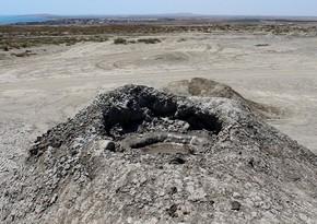 Şamaxıda Quşçu palçıq vulkanı 3 hektar ərazini əhatə edib